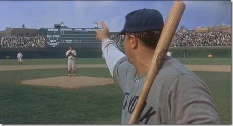 John Goodman as Babe Ruth calling his shot
