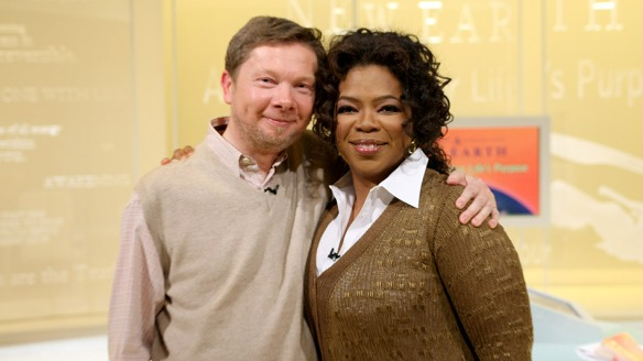 Eckhart and Oprah: Models of enthusiasm!